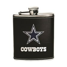 Dallas Cowboys Stainless Steel Flask [NEW] NFL Leather Drink Tailgate
