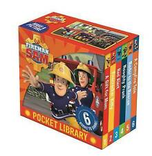 Fireman Sam Pocket Library 6 Little Board Books Collection BRAND NEW