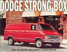 1971 Dodge Tradesman Van Strong Box B100 B200 B300 Dealer Sales Brochure