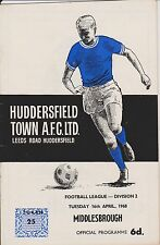 HUDDERSFIELD TOWN v MIDDLESBROUGH 67-68 LEAGUE MATCH + ST AUGUSTINS v DEIGHTON