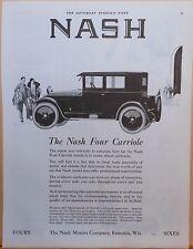 Vintage 1924 magazine ad for Nash - Nash Four Carriole illustration, Splendid