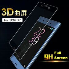 FULL SCREEN CURVED EDGE 3D TEMPERED GLASS SCREEN PROTECTOR For Sony Xperia XZ