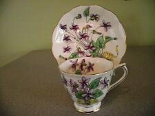 Royal Albert Violet Hand Painted Flower of the Month Series Teacup and Saucer