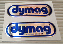 DYMAG MAGNESIUM WHEEL CHROME WHEEL DECALS STICKERS X 2