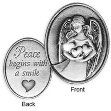 COIN - INSPIRATIONAL ANGEL TOKEN - Peace Begins With a Smile