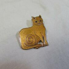 Fish and Crown Cloisonne Cat Brooch (16104631A)