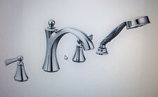 Moen Wynford Chrome Roman Tub Faucet w/Handshower T654