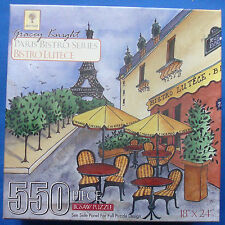 jigsaw puzzle 550 pc Gracey Knight Paris Bristro Series Eiffel Tower France