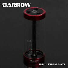 Barrow Quartz Glass Tube Reservoir Water Tank  Red 170mm x 65mm WaterCooling