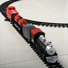 Battery Operated Railway Car Electric Train Set Kids Educational Toys Xmas Gift