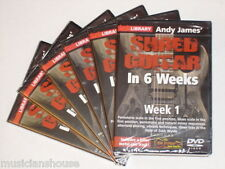 6 DVD SET LICK LIBRARY ANDY JAMES SHRED Guitar In  1 2 3 4 5 6 Weeks DVD LEARN