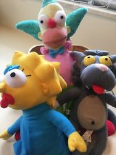 "Lot of Plush THE SIMPSONS, 12"" SCRATCHY THE CAT , Maggie & Krusty Clown 15"""