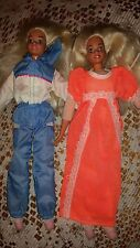 2 BARBIE DOLLS SLUMBER PARTY 1993 1994 SUPERSTAR FACE VINTAGE SOFT BODY RARE USE