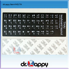 Wholesale Thai Thailand Layout Laptop Keyboard Stickers Label With White Letters