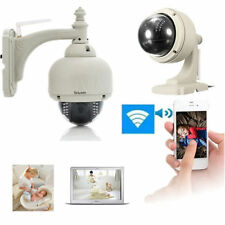 New Wireless IP Camera PT Dome IR Night Vision WiFi IR-Cut Outdoor Security Cam