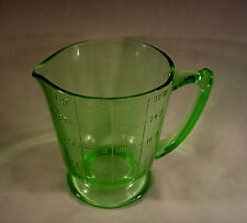 Vintage VASELINE Uranium Green Glass  1 Qt ART DECO MEASURING CUP - EXCELLENT!!!