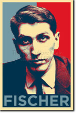 BOBBY FISCHER ART PHOTO PRINT (OBAMA HOPE) POSTER GIFT CHESS