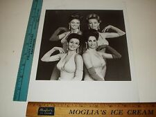 Rare Original VTG 4 Beautiful Girls Make up the Mod Moiselles Group Photo