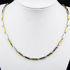 New 316L Stainless Steel Silver Gold Fashion Chain Necklace Women Mens Jewelry