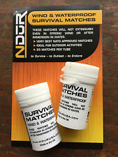 NDuR two-pack of 25 wind & waterproof SURVIVAL outdoor MATCHES new # 21060