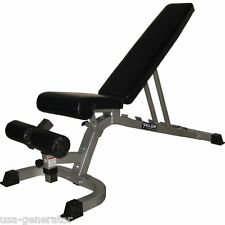 Adjustable Weight Bench Utility FID Flat Incline Decline 650 lbs Load Tested NEW