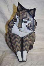 Art Sculpture Lynda Pleet 1987 Huge Cat Figurine Kitten Statue
