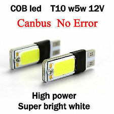 2 X white T10 cob led pair w5w parking licence plate roof led for  HYUNDAI i20