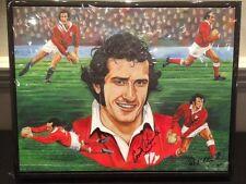Rugby Gareth Edwards no estrictamente 9 edición limitada firmada Lienzo Arte por Killian