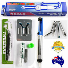 6in1 ATTEN Solder SOLDERING IRON 60W Chisel Tip OZ 240V Plug with LED indicator