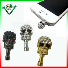 Tappo stopper anti polvere TESCHIO iPhone 5 5S 5C SE 4S 4 3GS 3G iPod touch Nano