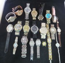 LOT OF 21 WRISTWATCHES MEN'S WOMEN'S USED UNTESTED MICHAEL KORS GUESS ETC.