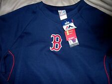 """BOSTON RED SOX EMB. COACH/PLAYERS """"MAJESTIC AUTHENTIC THERMABASE"""" JERSEY MENS XL"""