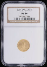 2004 4pc - Saint-Gaudens $5 $10 $25 $50 Set Gold Eagles NGC Certified MS 70