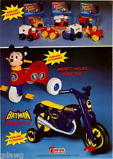 1977 ADVERT Batman Batcycle Motorcycle Mickey Mouse Ride On Roaring Hot Cycle