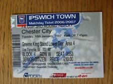 16/01/2007 Ticket: Ipswich Town v Chester City [FA Cup]