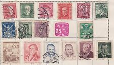 (JF-12) 1923-50 Czechoslovakia mix of 28 stamps 15H to 6K
