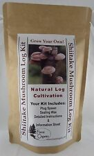 Shiitake Aloha 75 Mushroom Growing Log Kit Organic Grows Mushrooms For Years!