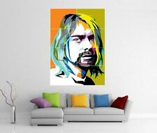 KURT COBAIN POP ART NIRVANA BLEACH NEVERMIND GIANT WALL PRINT PIC POSTER H205