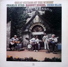 GREAT GUITARS AT THE WINERY LP Signed Charlie Byrd US Concord CJ 131 Excellent