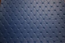 "Pacific Blue Embossed Diamond Faux Leather Fabric Vinyl Upholstery 54""W Pleather"