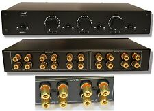 3:2 Audiophile Grade Speaker Selector Switch,Volume Control Accepts 12gauge Wire