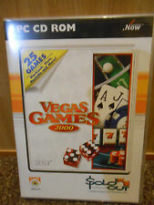 PC CD-ROM Computer Game VEGAS GAMES 2000 25 Games