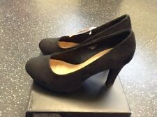 So Fabulous Matilda Black Extra Wide Fit High Heel Court Shoes Bnib Size 6