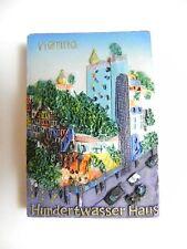 Magnet WIEN Hundertwasserhaus Österreich,Souvenir Relief,Kühlschrank,NEU
