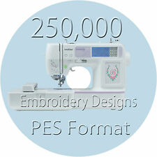 Embroidery designs 3 DVD Disk 250000+  PES Files brother machine