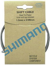 SHIMANO ZINC 2100MM BICYCLE INNER GEAR SHIFTER DERAILLIEUR CABLE--10 PACK
