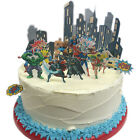 Stand Up Marvel Superheroes City Scene Edible Premium Wafer Paper Cake Topper