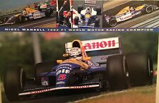 Nigel Mansell 1992 F1 World Motor Racing Champion 1st On Ebay! Car Poster!!