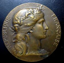MARIANNEMEDAL BY DUPUIS GIVEN BY THE FRENCH SENATEUR AMIARD Bronze Medal / N131
