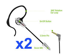 2pcs of Light Weighted 3.5 mm Boom Mic Headset for LG LG Stylo 2 Plus / K10